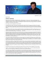 September 10, 2010 Dear Friends: KORANIC ... - Life Gate Church