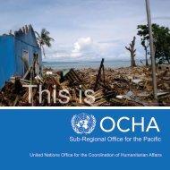 This is OCHA Pacific Brochure - Pacific Humanitarian Team