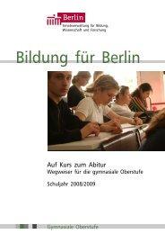 Wegweiser gymnasiale Oberstufe - Friedensburg Oberschule Berlin