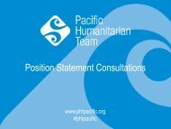 Session 13 - PHT Position Statement Consultations
