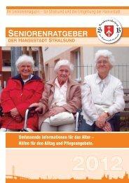 seniorenratgeber der hansestadt stralsund - Seniorenbeirat Stralsund