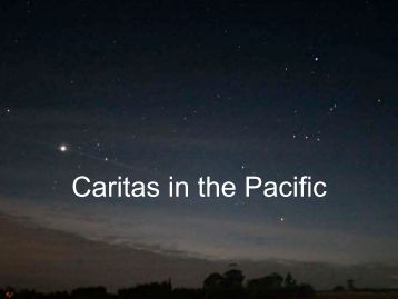 Caritas in the Pacific