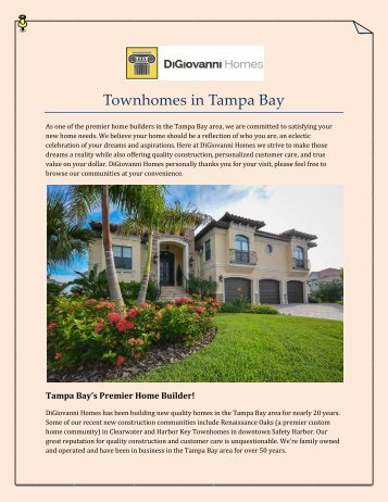 Townhomes in Tampa Bay