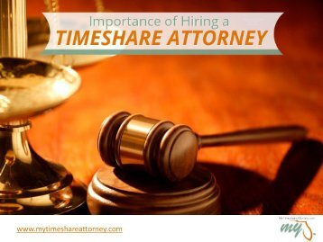 Importance of Hiring a Timeshare Attorney