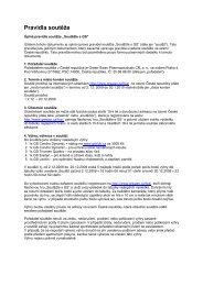 Pravidla soutěže - Green-Swan Pharmaceuticals CR, a.s.