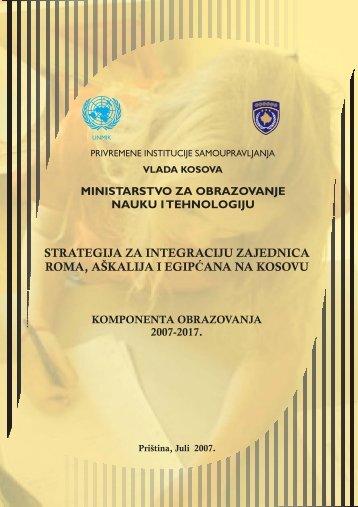 strategija za integraciju zajednica roma, aškalija i egip ana na ...