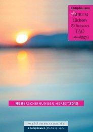 NEUERSCHEINUNGEN HERBST2015