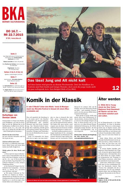 Berner Kulturagenda 2015 N°29