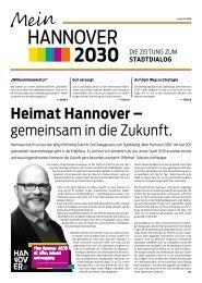 Heimat Hannover – gemeinsam in die Zukunft.