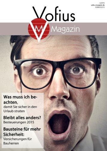 Vofius Magazin 03.15