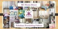 KC Home Decor Fabulous Furnishing Fabrics
