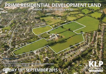 PRIME RESIDENTIAL DEVELOPMENT LAND, EXETER