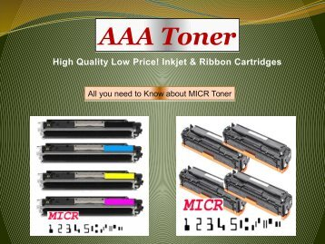 All you need to Know about MICR Toner