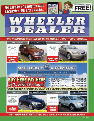 Wheeler Dealer 29-2015