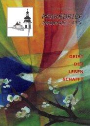 Pfarrbrief Innsbruck / Arzl - Nr. 2 Pfingsten / Sommer 2015