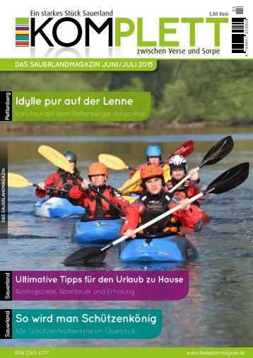 Komplett - Das Sauerlandmagazin Juni 2015