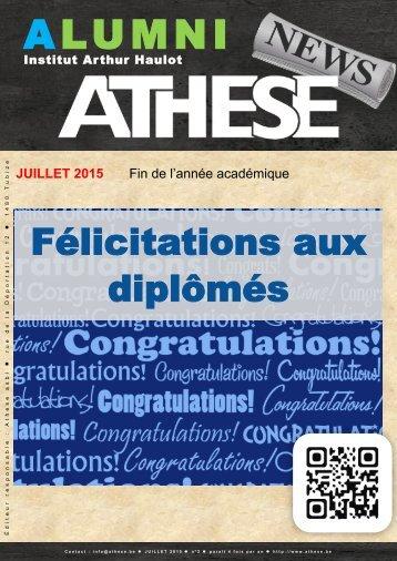 ATHESE - Newsletter 2 - Juillet 2015