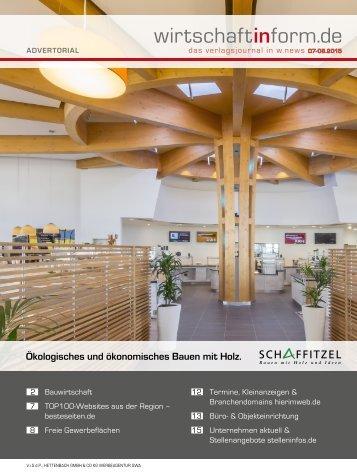 Bauwirtschaft | wirtschaftinform.de 07-08.2015