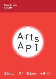 ArtsAPI: How-to