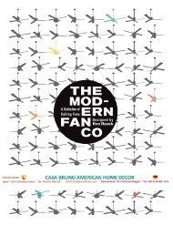 Casa Bruno Modern Fan Ventiladores 220v - catálogo 2015