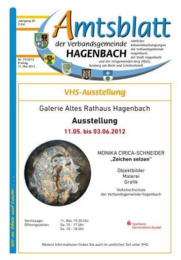 Kirchliche Nachrichten - Verbandsgemeinde Hagenbach