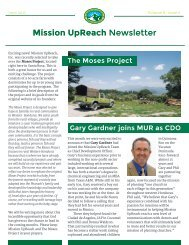 Mission UpReach Newsletter - June 2015