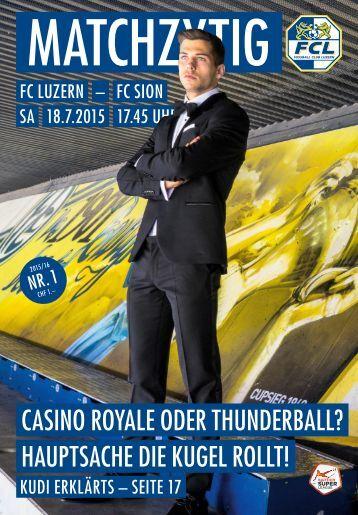 FC LUZERN Matchzytig N°1 15/16 (RSL 1)