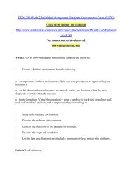 DBM 380 Week 2 Individual Assignment Database Environment Paper