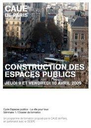 Dossier de formation - (CAUE75) Paris