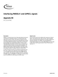 Interfacing PAROLI® and LVPECL signals Appnote 80 - Technology