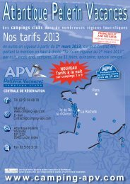 Our rates for 2013 - Atlantique Pellerin vacances