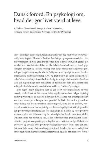 Læs bogens danske forord (pdf) - Forlaget Mindspace