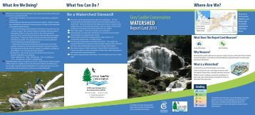 2013 Watershed Report Card - Grey Sauble Conservation Authority