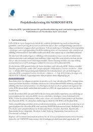 Projektbeskrivning för NORDOST-RTK - Swepos - Lantmäteriet