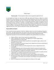 1 | Page Offre d'emploi Nouveau poste - Directeur ... - COMBEQ