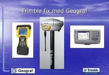 Information från Trimble - Swepos