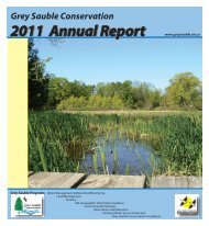 2011 Annual Report - Grey Sauble Conservation Authority