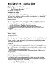Inspecteur municipal adjoint - COMBEQ