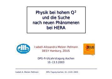 Physik bei hohem Q2 und die Suche nach neuen Phänomenen bei ...