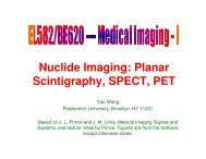 Nuclide Imaging: Planar Scintigraphy, SPECT, PET - Polytechnic ...