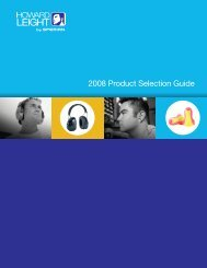 2008 Product Selection Guide - Howard Leight