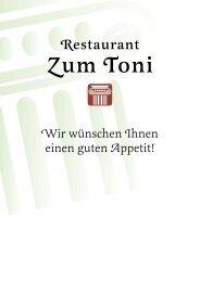 Warme Vorspeisen - Griechisches Restaurant Zum Toni