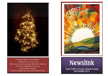 December 2012 - St Faith's home page