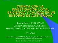 CODECAME Consorcio para el Desarrollo Sostenible del Cantón ...