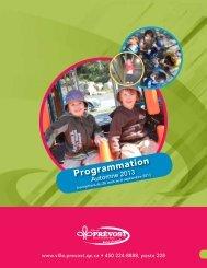 Programmation loisirs - Automne 2013 - Prévost