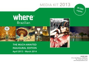 MEDIA KIT 2013 - Where Paris