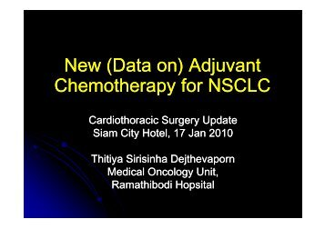(Data on) Adjuvant Chemotherapy for NSCLC