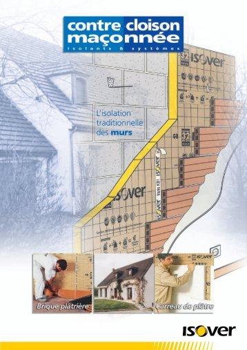Solutions Contre-cloison maçonnée - Isover