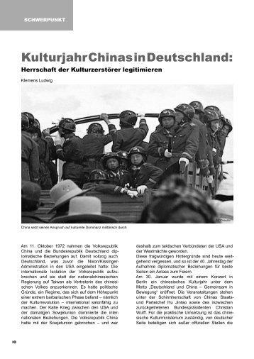 Chinesisches Kulturjahr in Deutschland - Tibet Initiative ...