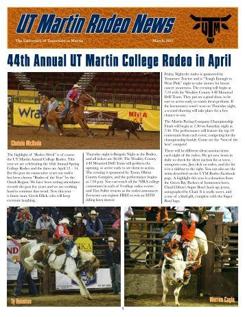 March 2012 Newsletter - UTM Sports